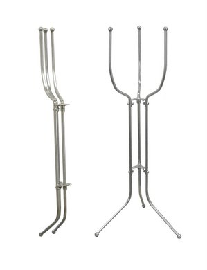 Beaumont - Stainless Steel Space Saver (Folding Bucket Stand)