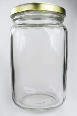 Clear Square Glass Jar - 1lb (348ml)