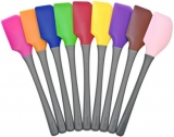 Nylon Handle Silicone Spatulas - Brown