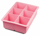 Tovolo - King Cube Tray - Very Large Ice Cubes! (Pink)