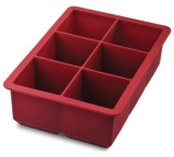 Tovolo - King Cube Tray - Very Large Ice Cubes! (Red)