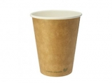 Vegware - Biodegradable 12oz Single Wall Brown Kraft Hot Cup (Pack of 50)