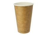 Vegware - Biodegradable 16oz Single Wall Brown Kraft Hot Cup (Pack 50)