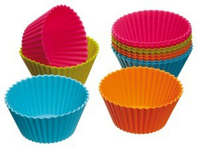Silicone Cup Cake Moulds - Pack of 12