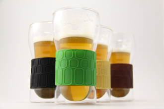 Dimple Double Walled Beer Glass