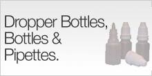 Dropper Bottles, Bottles & Pipettes