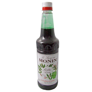 Monin Syrup - 1 Ltr Green Mint (NEW Style Pump)