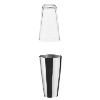 Motta 'Boston' Glass & Stainless Steel Shaker