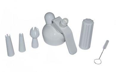 Best Whip/Mosa - Whipper Head Set (Inc holder & decorators) - White